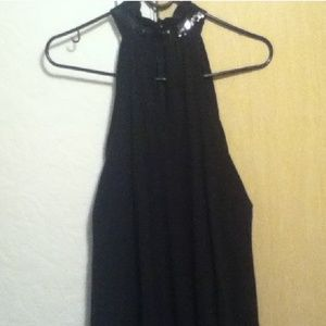Dresses & Skirts - REDUCE Sexy Black dress with Shimmering neck sz 1x